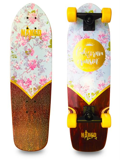 Naked California Flower Deluxe Longboard