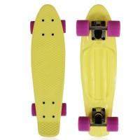"""NKD Classic Deluxe Skateboard 22"""" - Gelb"""