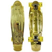 """NKD Shiny Deluxe Skateboard 27"""" - Gold"""